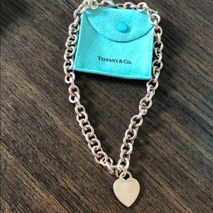 Vintage Tiffany & Co large heart necklace ❤️